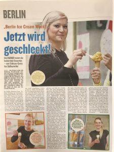 Kurier about Berlin Ice Cream Week 2020