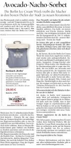 Tagesspiegel about Berlin Ice Cream Week 2021